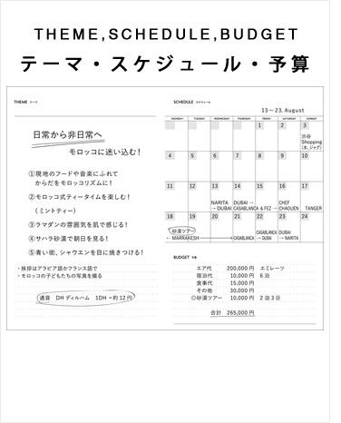 テーマ・スケジュール・予算
