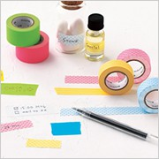 水性ペンで書けるマスキングテープ新サイズ&カラー