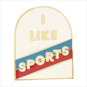 エナメルピン/I like sports/ban.do
