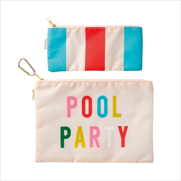 ポーチ・2サイズセット/Pool party/National stripe/ban.do