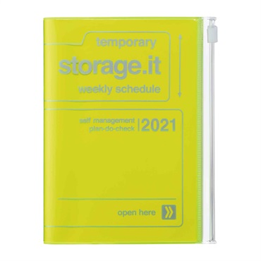 2021 Agenda / Diary / Weekly Vertical Planner / A6size,Storage.it (AV)