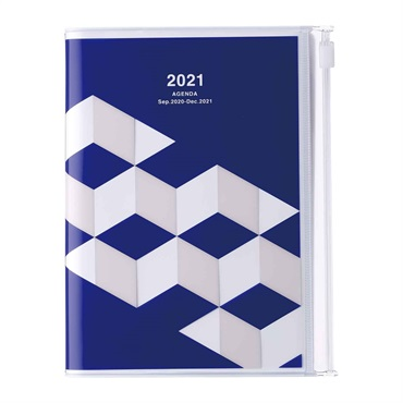 2021 Agenda / Diary / Weekly Vertical Planner / A6size,Geometric Pattern (AV)