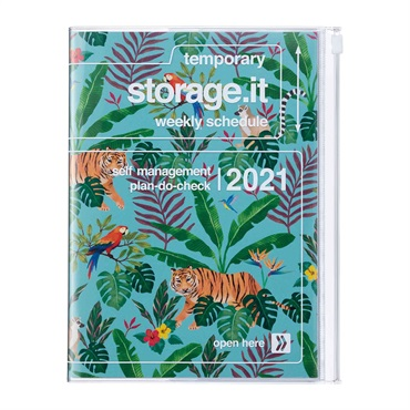2021 Agenda / Diary / Weekly Vertical Planner / A5size,Storage.it Jungle (HV)