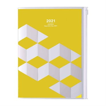 2021 Agenda / Diary / Weekly Vertical Planner / A5size,Geometric Pattern (HV)