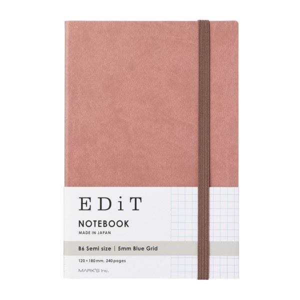 ノート/レポートパッド   B6サイズ   方眼ノート・B6変型/EDiT ...