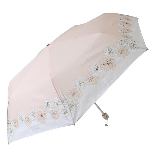UVカット機能付き 晴雨兼用 折りたたみ傘 (クリザンテーム/ピーチ)/ポール&ジョー アクセソワ