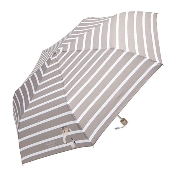 折りたたみ傘 UVカット加工 スウィンギングヌネット(キャメル)/ポール&ジョー アクセソワ
