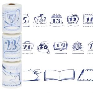 水性ペンで書けるマスキングテープ・ミシン目入り・スリム・手帳デコ/「マステ」/日付・タイトル用・ハンドドローイング マークス