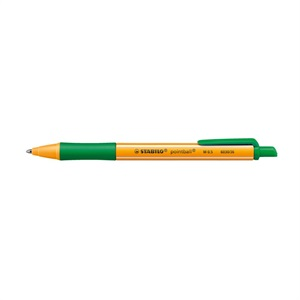 ポイントボール ボールペン 油性インク 0.5mm ノック式 ソフトグリップ/STABILO(スタビロ)