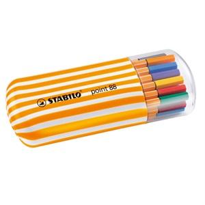 ポイント88 ゼブラ 水性ペン 水性インク 0.4mm 長寿命金属保護チップ ベンチレーションキャップ式/STABILO(スタビロ)