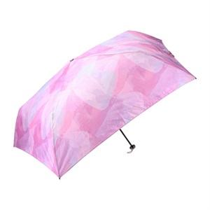 軽量 折りたたみ傘 水彩(パープル) マークス