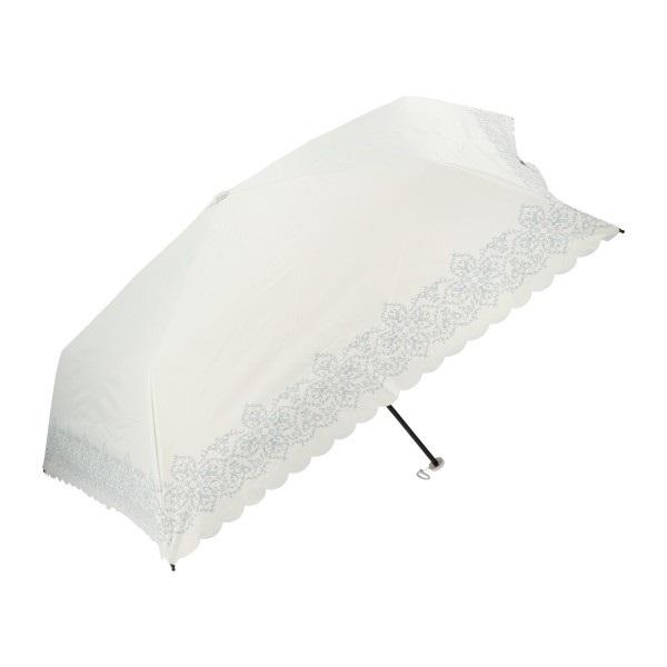 軽量 日傘 折りたたみ フラワーレース(ホワイト)/JOURNALIER(ジョルナリエ) マークス