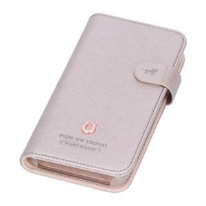 iPhone11Pro 対応 スマホケース(手帳型) シルエット シャイニーピンク/PEDIR(ペディール) マークス