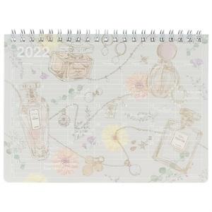 マークス 手帳 2022 スケジュール帳 9月始まり 月間ブロック S ノートブックカレンダー/フラワーパフューム