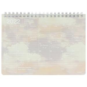 マークス 手帳 2022 スケジュール帳 9月始まり 月間ブロック S ノートブックカレンダー/バニラスカイ