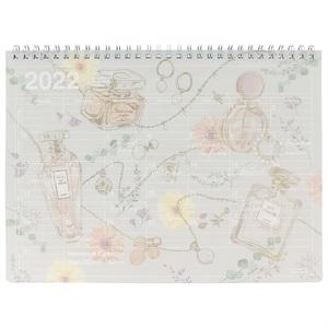マークス 手帳 2022 スケジュール帳 9月始まり 月間ブロック M ノートブックカレンダー/フラワーパフューム