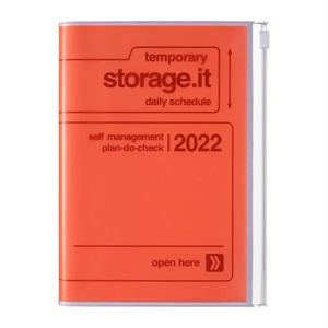 EDiT 手帳 2022 スケジュール帳 1月始まり 1日1ページ B6変型 ストレージ ドット イット