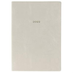 EDiT 手帳 2022 スケジュール帳 1月始まり 1日1ページ A6正寸 ニュアンスカラー