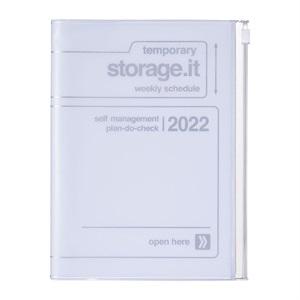 EDiT 手帳 2022 スケジュール帳 12月始まり 週間ノート セミA5 ストレージ ドット イット
