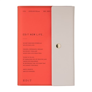 EDiT 手帳 2022 スケジュール帳 12月始まり 週間ノート セミA5 ポケット