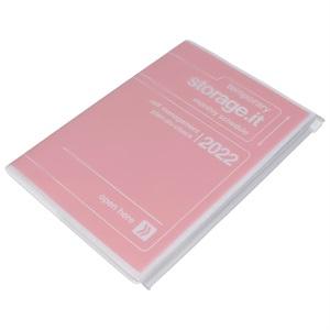 マークス 手帳 2022 スケジュール帳 12月始まり 月間ブロック+ノート A5正寸 ストレージ ドット イット