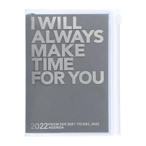 マークス 手帳 MARK'S 手帳 2022 スケジュール帳 ダイアリー ウィークリー・バーチカル 2021年9月始まり A6変型 クリア・ストレージ