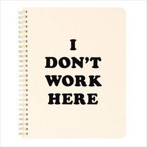 リングノート/I don't work here/ban.do