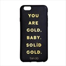 iPhone7専用 スマホカバー (背面ケース)/Solid gold/ban.do