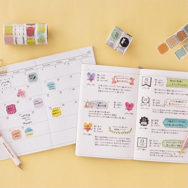 水性ペンで書けるマスキングテープ | ミシン目入り・手帳デコ | 水性 ...